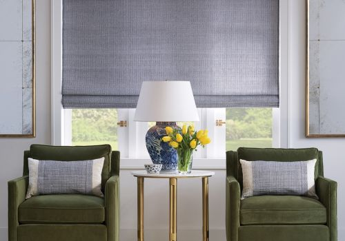 Hartmann&Forbes Roman Shade (LE2781 Rhythm Notes with Bamboo Cornice)
